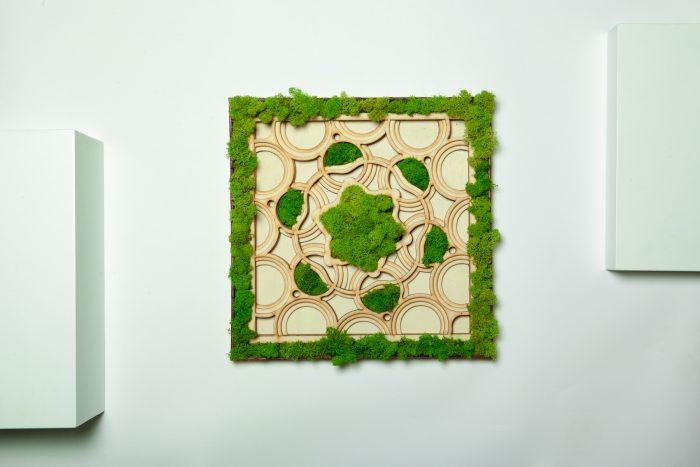 Tablou licheni, mandala in trei layere, cadouri unice, gift,