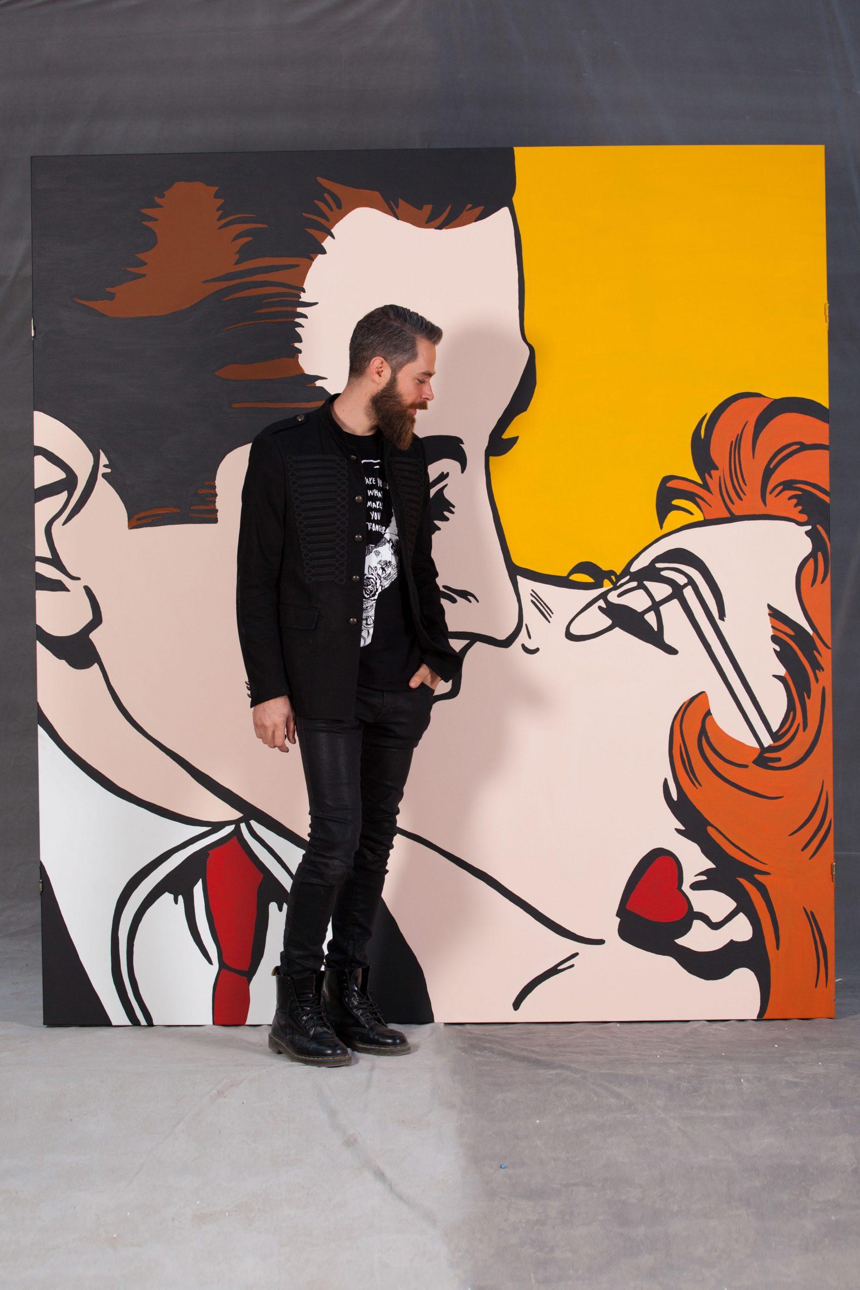 inchiriere fundal pop art