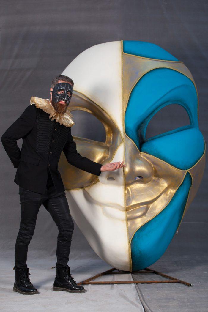 Inchiriere decor masca, petrecere tematica, venetia, Italia, photo corner