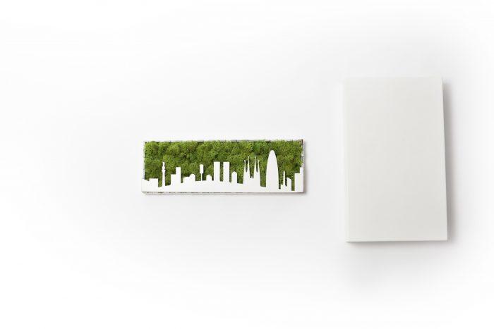 tablou licheni, city, oras, barcelona, verde cadou, gift