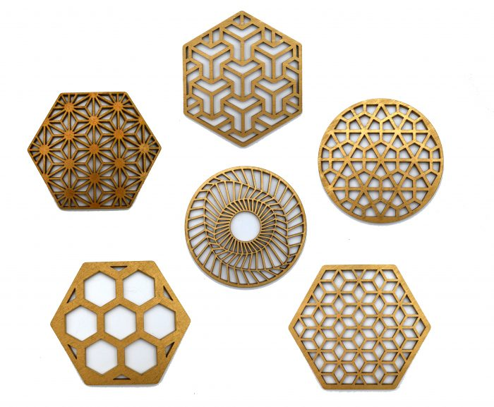 Coasters 6 bucati, gemetrie, cadouri originale, gift,