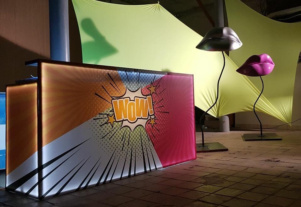 Bar pop art, inchiriere decoruri, petrecere tematica
