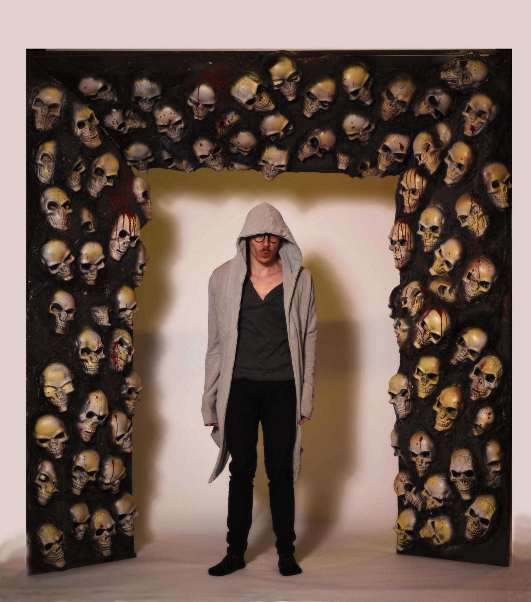 Poarta cranii Halloween, inchiriere decor petrecere tematica