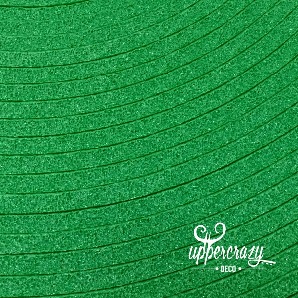 Eva Foam colorata verde, hobby craft.