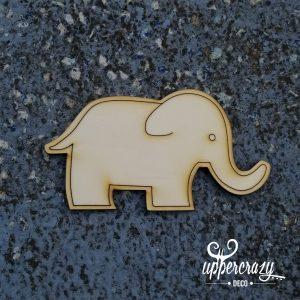 figurina de lemn elefant