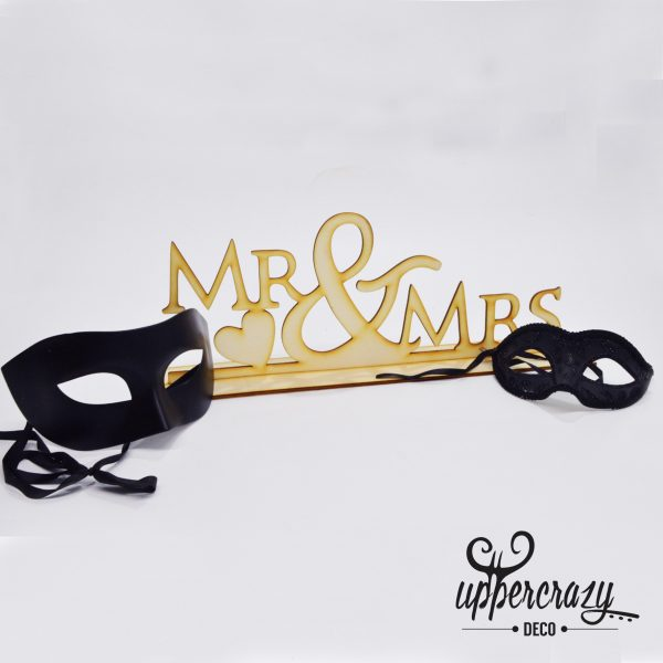 litere lemn Mr & Mrs, articole nunta