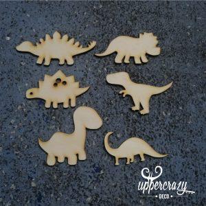 set dinozauri lemn - 6 buc