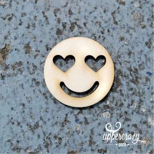 Figurina lemn smiley love, articole bricolaj handmade