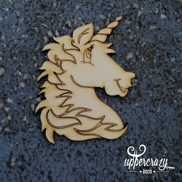 Figurina de lemn unicorn