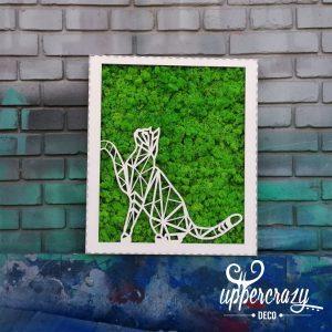 tablou licheni pisica, decor casa