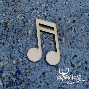 figurina lemn nota muzicala