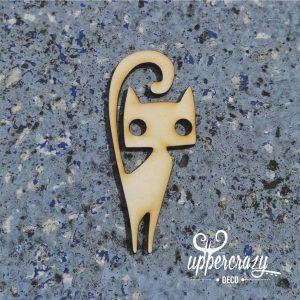 figurina lemn pisica